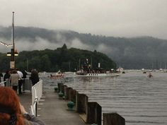 Bowness welcomes the Olympic Torch 2012, Lake District Cumbria England