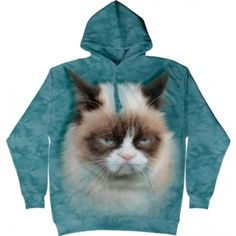 The Mountain Blue Grumpy Cat Hoodie Grumpy Cat, Bad Cats, Cat Sweatshirt, Cat People, Cool Hoodies, Cat Face, Ladies Boutique, Cat Memes, Spirit Animal