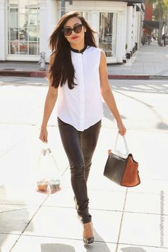 Simple white casual style