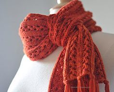 """""""scarf styling tutorial part 2 - the french loop""""  - I'm not sure if this is knit or crocheted."""