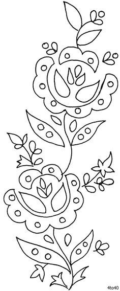 So many neat embroidery patterns. Can't figure out how to get them transferred to fabric yet. Flower Embroidery Designs, Hand Embroidery Patterns, Applique Patterns, Textile Patterns, Embroidery Applique, Beaded Embroidery, Cross Stitch Embroidery, Machine Embroidery, Diy Bordados