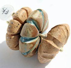 Bead Set by LisaPetersArt Ceramic Pendant, Ceramic Jewelry, Ceramic Beads, Ceramic Clay, Clay Beads, Lampwork Beads, Clay Jewelry, Ceramic Pottery, Earth Craft
