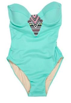 One piece turquoise bathing suit