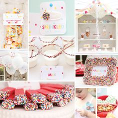 """Sprinkled with Love"" Birthday Party I like this idea for the 2nd ,3rd and so forth baby shower... :)"