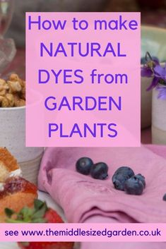 How to make DIY natural dyes from plants and flowers for fabrics, such as cotton and silk. How To Dye Fabric, Dyeing Fabric, Natural Dye Fabric, English Country Gardens, How To Make Diy, Colorful Garden, Easy Garden, Fruit And Veg, Cool Plants