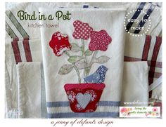 Jenny of ELEFANTZ: My new kitchen towels (and a pattern)...