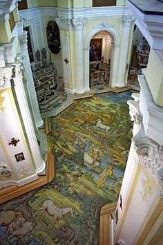 The floor of San Michele church in Anacapri, Capri.