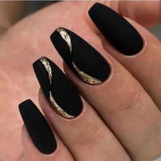 Acrylic nail designs 859695016354325331 - NagelDesign Elegant ( Ongles ) Source by loanbataille New Nail Designs, Black Nail Designs, Acrylic Nail Designs, Pedicure Designs, Acrylic Nails, Coffin Acrylics, Fall Designs, Pedicure Ideas, New Year's Nails