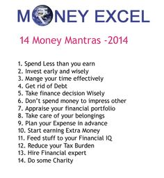 Money mantras of 2014 which can give you financial success. We are herewith 14 money mantras of 2014.