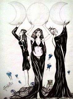 Mystical Art: Deusa Triplice