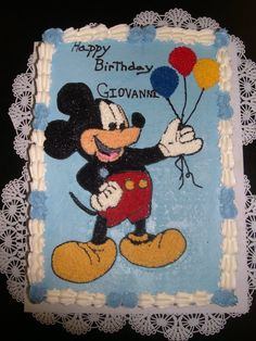 Mickey Mouse Sheet Cake
