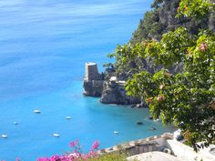 The enchanting Torre Clavel in Positano. One of the many ancient watchtowers lining the Amalfi Coast of Italy!