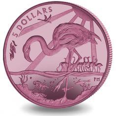 The Majestic Flamingo - 2015 Pink Titanium Coin