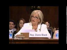Rep. Diane Black (R-TN) testifies against S.1696