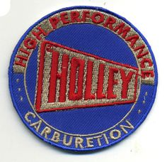 Holley Carbs patch badge hot rod drag race muscle car speed shop carburetor