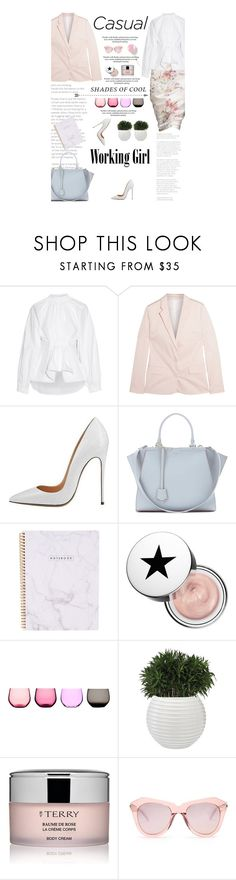 """""""Untitled #2634"""" by amimcqueen ❤ liked on Polyvore featuring Valentino, E L L E R Y, Acne Studios, Fendi, GlamGlow, By Terry and Karen Walker"""
