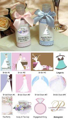 Bridal Shower Hand Sanitizers Favors