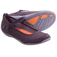 Teva Niyama Flat Perf Shoes - Mary Janes (For Women) in Purple This is one of the pairs I already have.  The strap on this one can also be tucked behind to function as a slip on or mary jane.  Pretty durable.  I love the color, but it may limit my outfit choices.