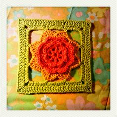free, flower granny square crochet pattern