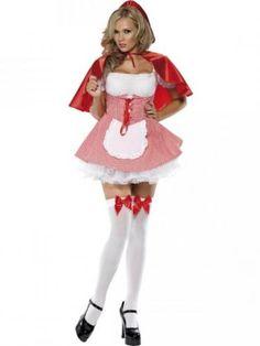 Riding hood costume.  Disfraz de Caperucita Roja adulto.  Sexy fancy dress