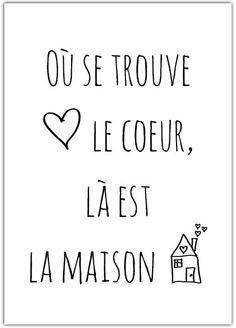 Het Noteboompje Kaart-Poster Le coeur