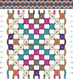 Normal Friendship Bracelet Pattern #2168 - BraceletBook.com