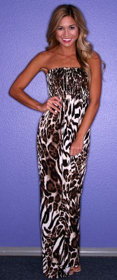 L.A. Drama Animal Print Leopard and Zebra Dress