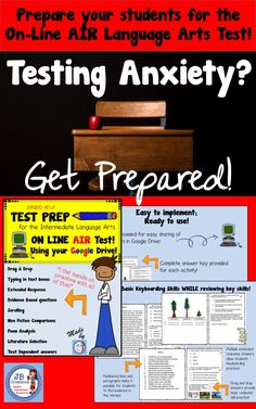 Give intermediate students practice with on-line testing strategies!  Learn how to scroll, drap & drop, click on selected answers, type responses, and answer questions using evidence from included texts.  Perfect for sharing on Google Drive!   5 reading passages with a mix of informational, literature, and poetry are included along with a complete answer key. https://www.teacherspayteachers.com/Product/AIR-Test-Prep-On-Line-Google-Language-Arts-for-4th-Grade-All-New-for-2017-2938990