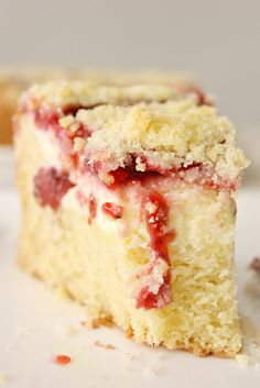 Strawberry Cream Cheese Coffee Cake!! Grain Free Version: 1 cup coconut flour, 2/3 cup almond flour, 1/3 cup tapioca starch, 1/3 cup maple syrup, maple syrup or stevia to replace other sugar in recipe