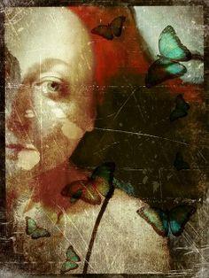 E - Butterfly Girl, Sarah Jarrett Portraits, Expo, Fine Art Photo, Face Art, Artist Art, Oeuvre D'art, Mixed Media Art, New Art, Painting & Drawing