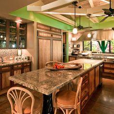 Charming Portofino Granite For Unique Kitchen Countertops Ideas Tropical Design With And