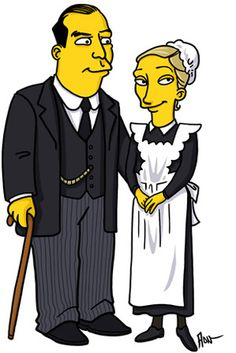 """Downton Abbey"" Characters Drawn As ""The Simpsons"""