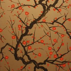 Clarence House Flowering Quince wallpaper