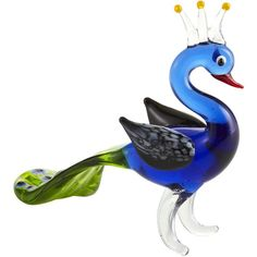 Pier One Glass Peacock Figurine ($3.98) found on Polyvore