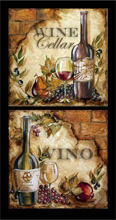 Tre Sorelle Искусство для Home Decor Decoupage Vintage, Decoupage Paper, Arte Pallet, Image Deco, Decoupage Printables, Wine Decor, Wine Art, Tuscan Decorating, Kitchen Art