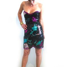 Strapless Sequin Dress, $110, now featured on Fab.
