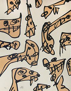 Saura Antonio: Litografía original firmada: inarmónica
