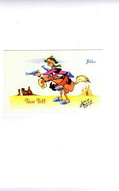Carte Postale Chocolat Tobler Pécos Bill Walt Disney TBE | eBay