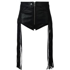 Diesel fringed shorts (£380) ❤ liked on Polyvore featuring shorts, black, fringe shorts and diesel shorts