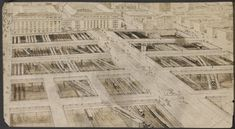 Drawing of Grand Central Terminal with street level cutaway to subway tracks (1912). From the Mid-Manhattan Picture Collection / New York City, NYPL Digital Gallery