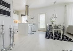 BlackWhite kitchen and dining space - Home White Home -blog