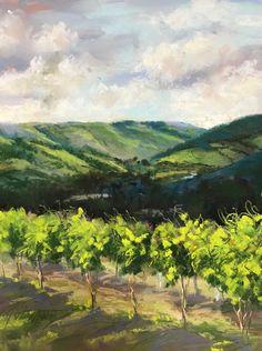 Snake River Vines Bonnie Griffith pastel. 10x8