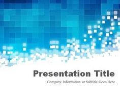 Pixels Blue PowerPoint Template