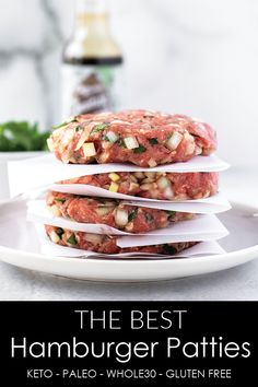 The Best Homemade Hamburger Patties (Freezer Friendly!) One Pot Homemade Hamburg. - The Best Homemade Hamburger Patties (Freezer Friendly!) One Pot Homemade Hamburger Helper is just l - Homemade Hamburger Patties, Homemade Hamburgers, Hamburger Meat Recipes, Best Homemade Burgers, Hamburger Seasoning, Grilling Recipes, Cooking Recipes, Freezer Recipes, My Burger