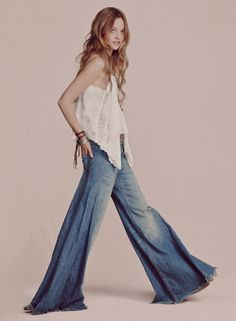 Bell bottoms have returned - I can start pulling mine out of the closest again ! Hope thwy still fit !!