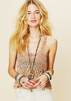 trend alert, crochet and tons of bracelets!