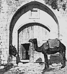 The eye of the needle mentioned in the book of Matthew was one of several gates that provided passage through the city of Jerusalem's massive walls.