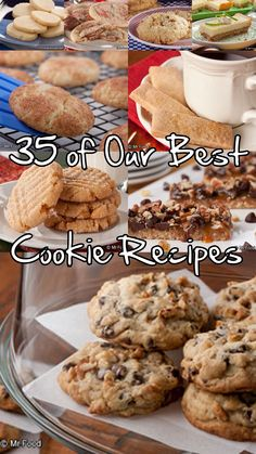 Who took the cookie from the cookie jar? You're going to need to set up a secret stash for yourself after baking up some of the simple cookie recipes found in our latest free eCookbook, Cookie Jar Favorites: 35 of Our Best Cookie Recipes. From ooey, gooey chocolate chip cookie recipes to guilty-pleasure candy cookie recipes, we bet we've got a recipe that'll tickle your taste buds!