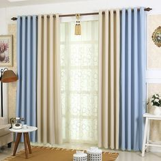 1piece Readymade bedroom curtains, #Lau-Fengyasong pretty blackout cortinas, completed high density drapes blind for living room