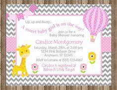 BABY SHOWER INVITATION for Girls/Giraffe Baby by traditionsbydonna